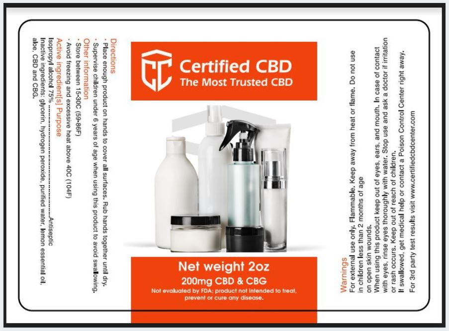 Certified CBD Center the most trusted CBD products